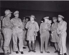 Left to right, Mr. F. M. Forde (Australian Minister for the Army); Gen. Douglas MacArthur; General Sir Thomas Blamey; Maj. Gen. George C. Kenney; Major-General C. A. Clowes; Brig. Gen. Kenneth N. Walker-On 4 March 1943, during the Battle of the Bismarck Sea, Gen. G. Kenney ordered Allied patrol boats and aircraft to attack Japanese rescue vessels, as well as the survivors from the sunken vessels on life rafts and swimming or floating in the sea.