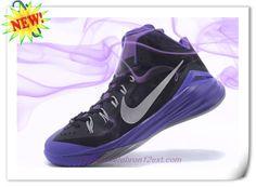 d0fefe4407d47 Deals On Black Purple Gray 653641-011 Nike Hyperdunk 2014 Purple Grey