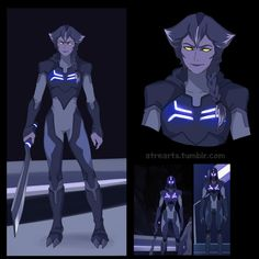 Galra Blade of Marmora Woman from Voltron Legendary Defender