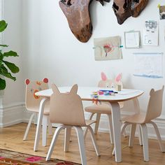 Kids' Play Table from PoshTots #kids #table #chairs #sized #cute