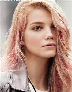 very subtle rose gold ombre blonde hair - Google Search