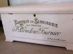 Vintage Trunk Cedar Chest French Furniture by EveryNowAndThen1