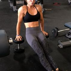 Dumbbell pass throughs for abs! Seriously- try these! If you're taller (I am 5'3 for reference), you might need to use 2 benches or just bigger dumbbells. Enjoy!!!