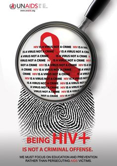 Being HIV + is not a criminal offense.