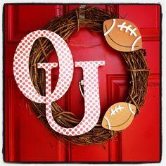 OU Wreath - Oklahoma Sooner Football