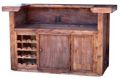 Rustic Portable Bar - Back