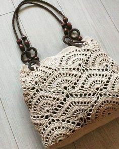 Marvelous Crochet A Shell Stitch Purse Bag Ideas. Wonderful Crochet A Shell Stitch Purse Bag Ideas. Crochet Shell Stitch, Crochet Tote, Crochet Handbags, Crochet Purses, Crochet Stitches, Free Crochet, Knit Crochet, Tunisian Crochet, Macrame Bag