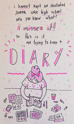 """advofayoungartist: """"Wish me luck! """" Remember I told that I've been thinking of doing a illustrated diary? I've just opened a little side blog and will be posting everything there. Also, if you have..."""