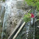 hiking dangerous Slovak Paradise mountains in Slovakia