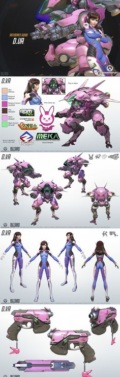Overwatch - D.Va Reference Guide