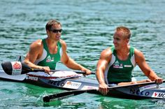 Rudolf Dombi & Roland Kökény, gold medalists of Men's Kayak Double 1000 m, Olympic Games London, 2012 2012 Summer Olympics, World Famous, Olympic Games, Homeland, Hungary, Athletes, Kayaking, London, Country