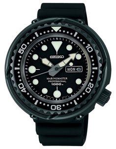 Seiko Prospex Marine Master Professoinal Quality Watches on SALE ! Sport Watches, Watches For Men, Seiko Marinemaster, Mens Outdoor Clothing, Seiko Diver, Gold Rolex, Seiko Automatic, Selection, Black Bracelets