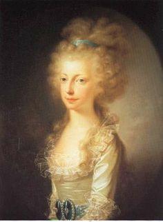Archduchess Maria Clementina of Austria, Duchess of Calabria by Joseph Hickel, 1796