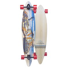 """Bustin Pinner 44 Big Surf Complete Longboard Skateboard -9.25x44. Brand: Bustin Boards. Size: 9.25"""" width. Prebuilt by the skilled folks from Bustin Boards. No assembly required. Ready to ride right out of the box!."""