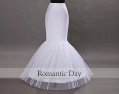White 1 Hoop Bone Mermaid Elastic Petticoat/Wedding petticoat/slip underskirt underdress crinoline Bridal Accessories 1