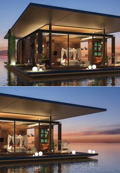 (via Beautiful Bedrooms Perfect for Lounging All Day) Beautiful Bedrooms, Beautiful Homes, Pole House, Backyard Patio Designs, Luxury Rooms, Floating House, House Layouts, Sustainable Living, Bungalow