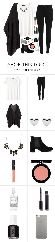 """""""having a small surgery today"""" by pineapple5415 ❤ liked on Polyvore featuring H&M, Charlotte Russe, NARS Cosmetics, Armani Beauty, Chanel, Essie, Native Union, I Love Ugly and country"""
