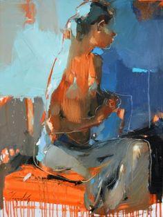 "Saatchi Art Artist Iryna Yermolova; Painting, ""White dress. Sketch"" #art"