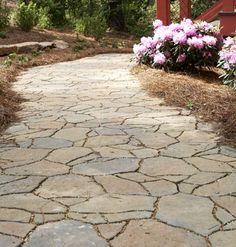 Garden Path Interlocking Pavers Sculpted To Resemble Natural Flagstone Blend Effortlessly Into The Environment