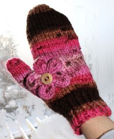 Hipknitized: Free Pattern: Chunky Knit Mittens