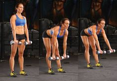 Dumbbell stiff-leg deadlift with extension - IMAGE - Women's Health and Fitness magazine