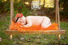 Orange Mongolian Faux Fur Rug Photography Photo Prop 27x30 Newborn Baby Toddler Mat
