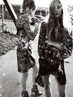 campbell's coup: olympia campbell and edie campbell by mario testino for uk vogue march 2016