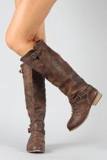 Chris-1 Slouchy Knee High Riding Boot