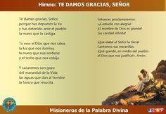 MISIONEROS DE LA PALABRA DIVINA: HIMNO LAUDES - TE DAMOS GRACIAS, SEÑOR