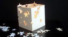 Centro de mesas de estrellas. Mira esta idea que encontramos, sencillita!!!! Muy facil de hacer! http://wp.me/p1ytFq-4x