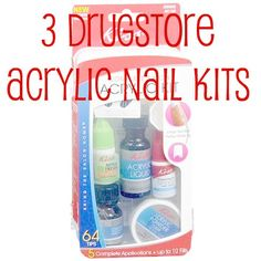 How to diy acrylic nails nails pinterest diy acrylic nails 3 drugstore acrylic nail kits these are so easy and totally worth a try diy solutioingenieria Images