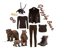 """""""Grizzly Bear"""" by girlinthebigbox ❤ liked on Polyvore featuring River Island, WearAll, Creatures Of The Wind, Brunello Cucinelli, Blueberry Hill and Bjørg"""