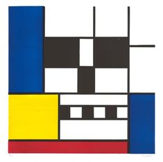 "Skull + Mondrian = ""Skulldrian"" by Dirk Fowler. Awesome."