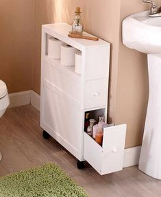 50 Clever and Creative DIY Bathroom Storage Organization Ideas - Page 36 of 53 Small Bathroom Organization, Bathroom Storage Shelves, Organization Ideas, Storage Ideas, Smart Storage, Budget Storage, Bath Storage, Storage Cabinets, Amazing Bathrooms