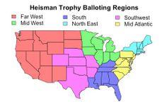 Heisman voting regions. The Data Behind the Wide-Open Heisman Trophy Race - Businessweek