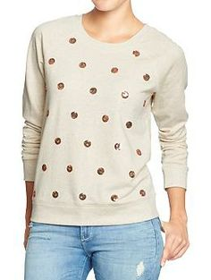 Women's Embellished-Raglan Sweatshirts | Old Navy- want this one! Saw it in the window and loved it.
