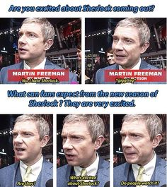 Martin Freeman<<<< what a cutie.... but is it acceptable to make a gay joke out of the first question?
