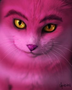 darkened eyebrows, heavily lined eyes    Cheshire Cat by ~Apple-In on deviantART