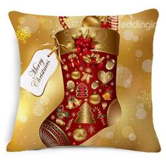 Gorgeous #Christmas Stocking Print #Throw #Pillow #Case