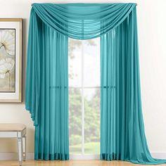 HLC.ME, Pair of Turquoise Sheer Panel Window Treatment Curtains HLC.ME http://www.amazon.com/dp/B008WW2KVK/ref=cm_sw_r_pi_dp_gEb2vb1NCYXGF