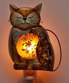 Salt Lamps And Cats Impressive Crackled Glass Cat Lamp  Crackle Glass Cat And Glass Inspiration Design