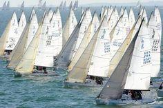 Le Spi Ouest France, l'épreuve qui ouvre la saison nautique à La Trinité, Morbihan.
