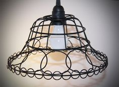 Black Fruit Bowl made into this lovely hanging lamp by ClassicRedo, $40.00