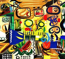 Abstract Interior #23 by Lisa V Robinson