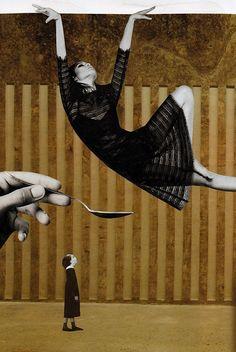 Haute voltige, 2017. Collage papier de Zophie Zyphon