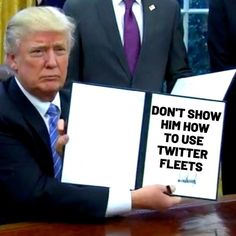 donald trump twitter fleets meme Funny Memes About Work, Work Memes, About Twitter, New Twitter, Donald Trump Twitter, Oh The Irony, Social Media Digital Marketing, Life Memes, Mom Blogs