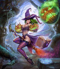 DeviantArt: More Like Halloween Queen Pinup (Vector Art) by PerfectDork Fantasy Witch, Dark Fantasy Art, Fantasy Art Women, Witch Art, Fantasy Girl, Fantasy Artwork, Halloween Pictures, Halloween Art, Halloween 2019