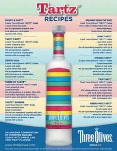 Three Olives - Tartz Recipes!! Yumm:)