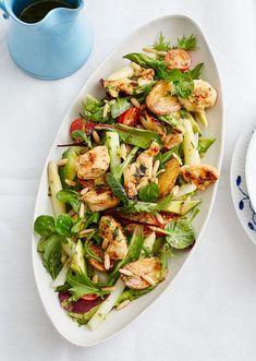 Hühnerbrust Salat mit Spargel und Kräuter-Vinaigrette - [ESSEN UND TRINKEN]