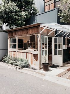 Small store design · the shozo coffee store, found by chance while strolling around the shibuya neighborhood cafe interior Small Coffee Shop, Coffee Store, Coffee Shop Design, Coffee Cafe, Cafe Design, House Design, Kiosk Design, Interior Design, Cafe Bar